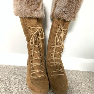 Rampage Fur Lined Suede Boots
